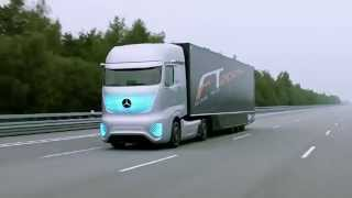Мерседес дальнобой, новые технологии, полный автопилот