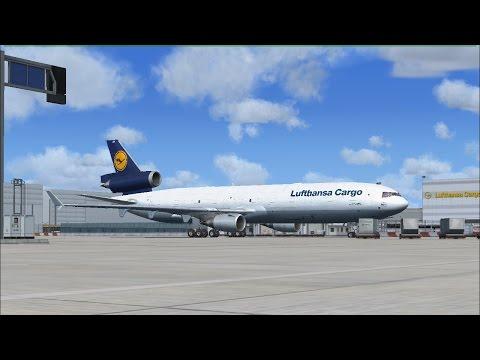 Frankfurt ( EDDF ) to Baku ( UBBB )   MD-11F   Lufthansa Cargo   Saturday Livestream   FSX:SE