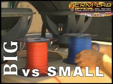 Car Audio Speaker Wire Big Vs Small 8 Gauge To 10 Awg W Acts Spl Stereo Termlab Bcomparison