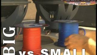 Car Audio Speaker Wire: Big VS Small - 8 Gauge To 10 AWG w/ ACT's SPL Stereo Termlab Bass Comparison