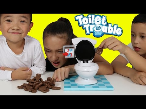 Thumbnail: CHOCOLATE POO Toilet Trouble Game Funny Kids Challenge With Ckn Toys