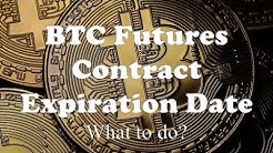 BTC Futures Contract Expiration Date - What to do?