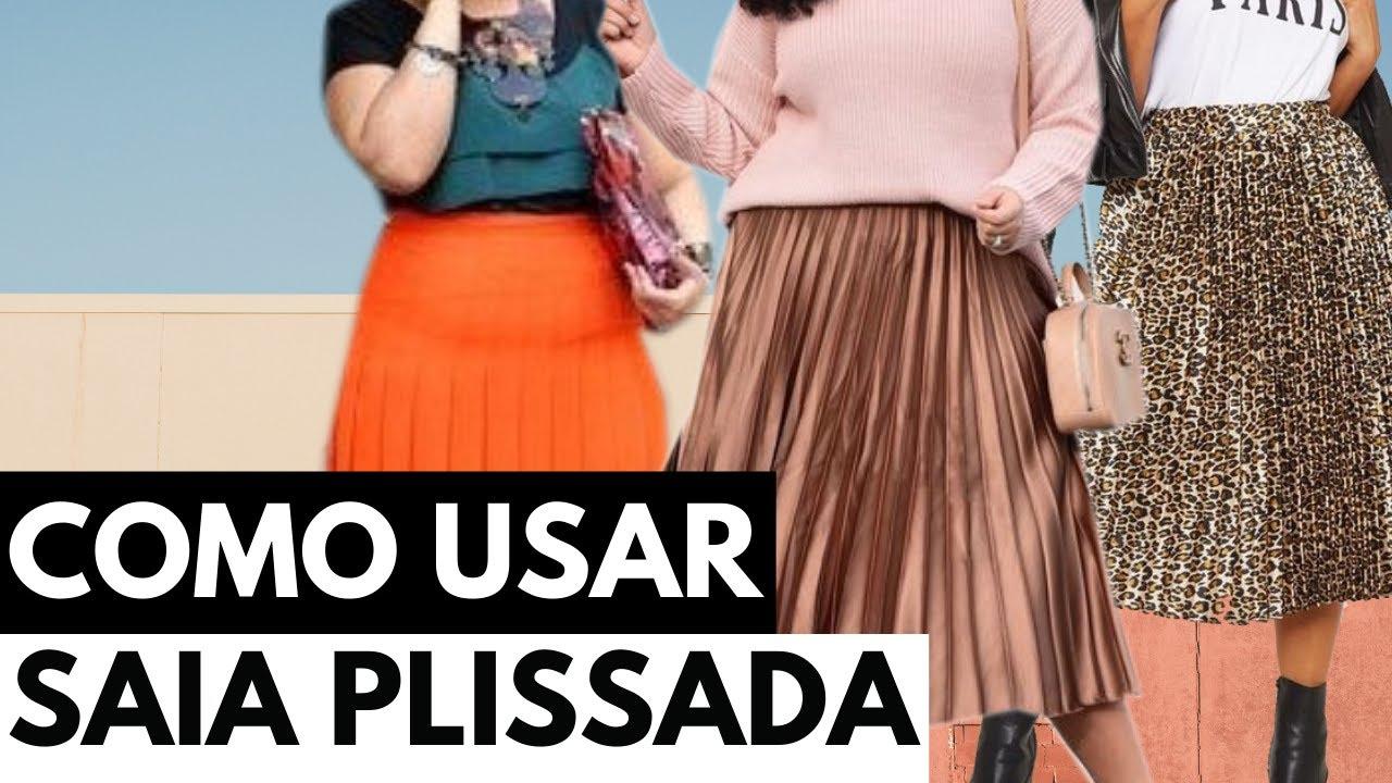 Como usar saia plissada | 50 looks plus size em 5 minutos • #50em5