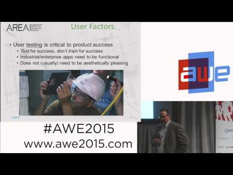 Patrick Ryan (Newport News ShipBuilding) - Training for enterprise Augmented Reality at AWE 2015