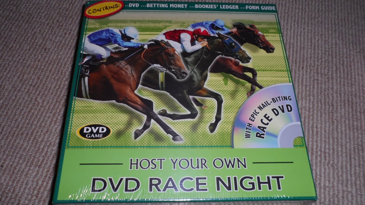 OVERVIEW OF HOST YOU OWN HORSE RACING NIGHT DVD BOARD GAME ...