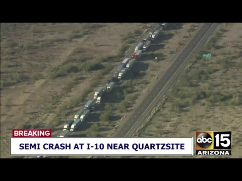NOW: Deadly crash involving semi trucks on I-10 near Quartzsite