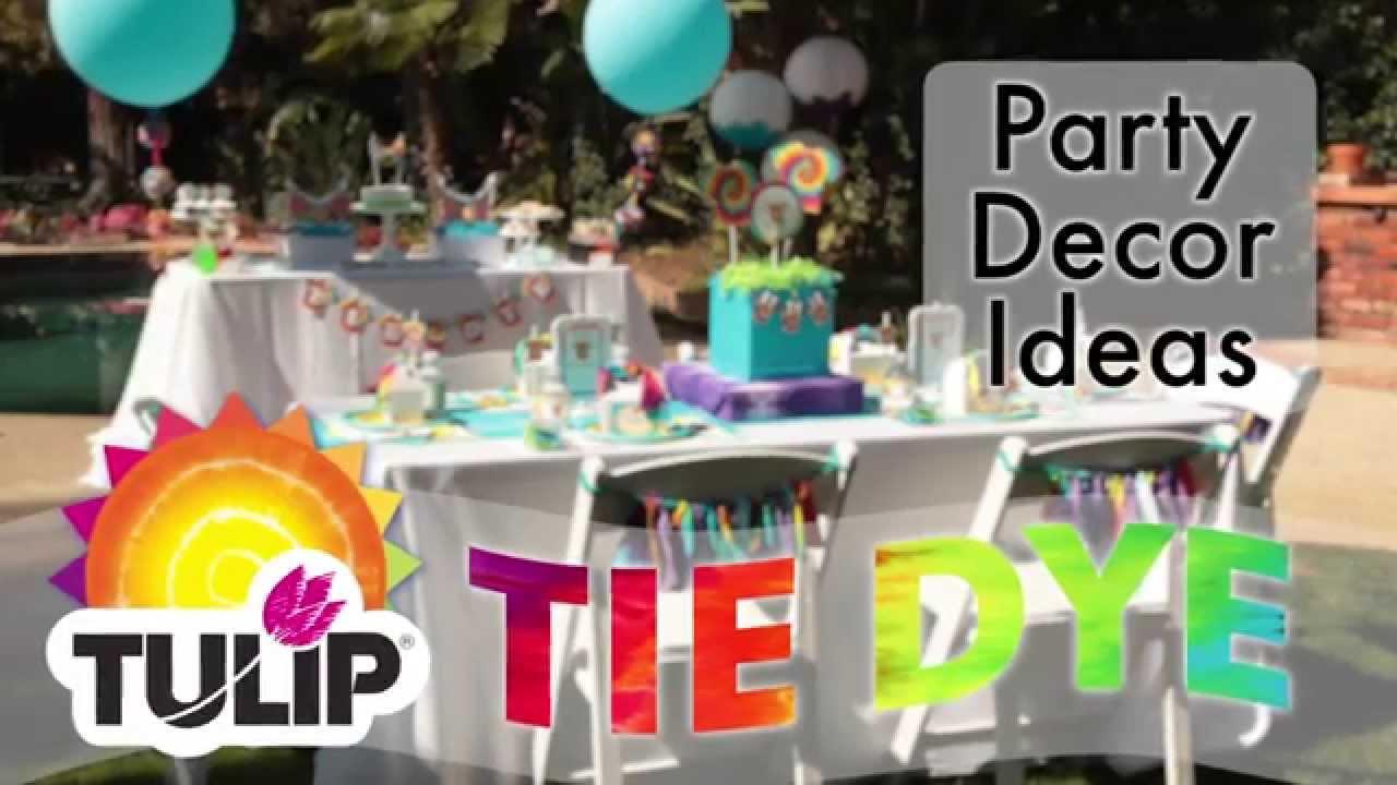 Tie Dye Party Decor Ideas Youtube
