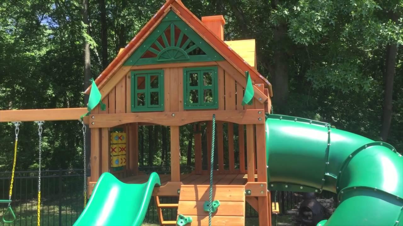 Gorilla Mountaineer Treehouse Swing Set Review 2016 Youtube
