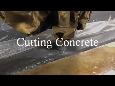Water Jet Cutting Huge Concrete Slab