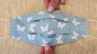 How to sew a protective face mask DIY face mask with two sides