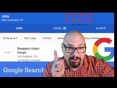 Boost Job Posting! Google For Jobs - SEO For Recruiting -EveryThing Recruiting Ep 2 -