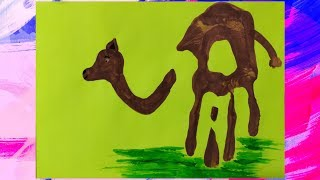 Handprint painting/painting idea for kids/painting art