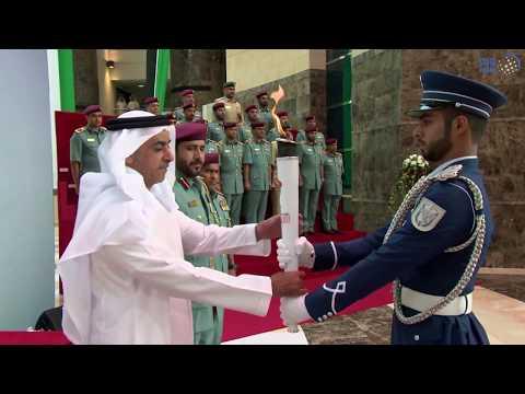 سيف بن زايد يشهد حفل مراسم شعلة دورة الألعاب الدولية الثانية للشرطة