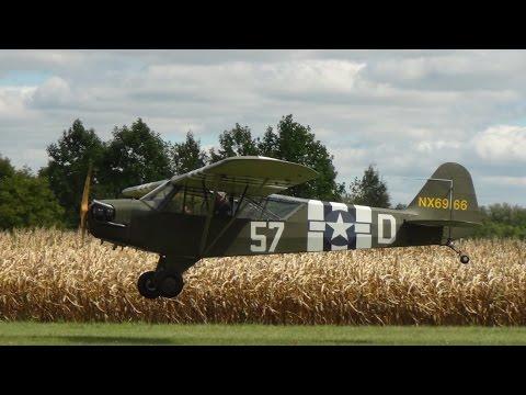 9/13/14 WACO fly-in, L-4 Grasshopper takeoff