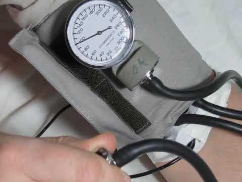 Exercice: mesure de la tension artérielle - YouTube