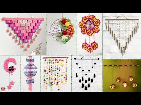 10 Creative Wall Hangings !!! DIY Home Decor Ideas