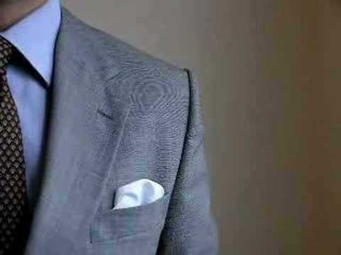 hvordan folder man et lommetørklæde