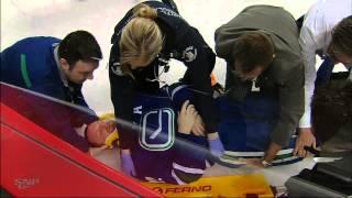 FULL Video: Daniel Sedin Stretchered Off Ice After Paul Byron Hit 04/13/14 [HD]