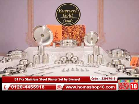 Everwel Dining Room Sets 81 Pcs Stainless Steel Dinner Set By
