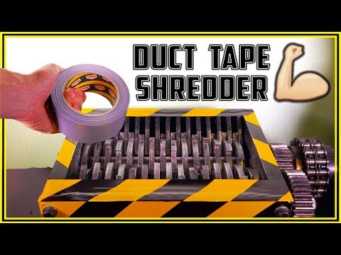Shredding 7 Different Duct Tapes with Shredder