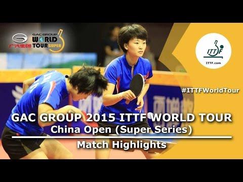 China Open 2015 Highlights: KIM Song I/RI Myong Sun vs CHEN Meng/LIU Shiwen (1/2)