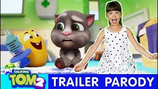 Laugh With Talking Tom In Real Life| Game Official Trailer Parody| Kids Skit