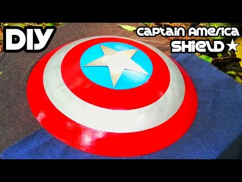 Captain America Shield DIY   Make by The haquetubes