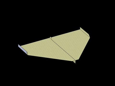 Sky King (2009 World Record) Paper Airplane: Alternative 3D Folding