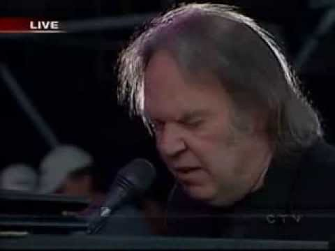 Neil Young & The Fisk University Jubilee Choir - When God Made Me (Live 8, Barrie, Canada, 2005)