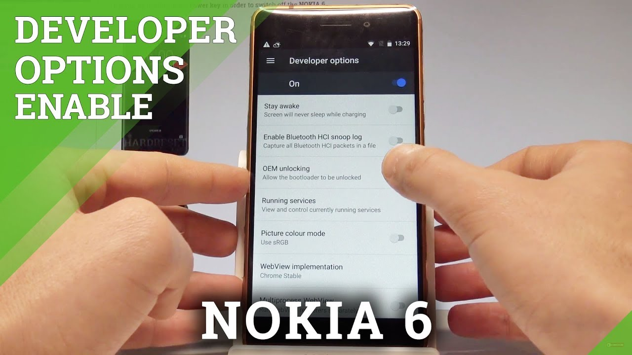 Developer Options NOKIA 6 - Enable OEM Unlock / USB Debugging