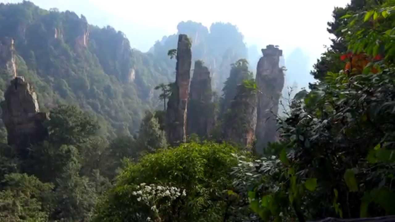 zhangjiajie nphunanfairylandscenery for the famous