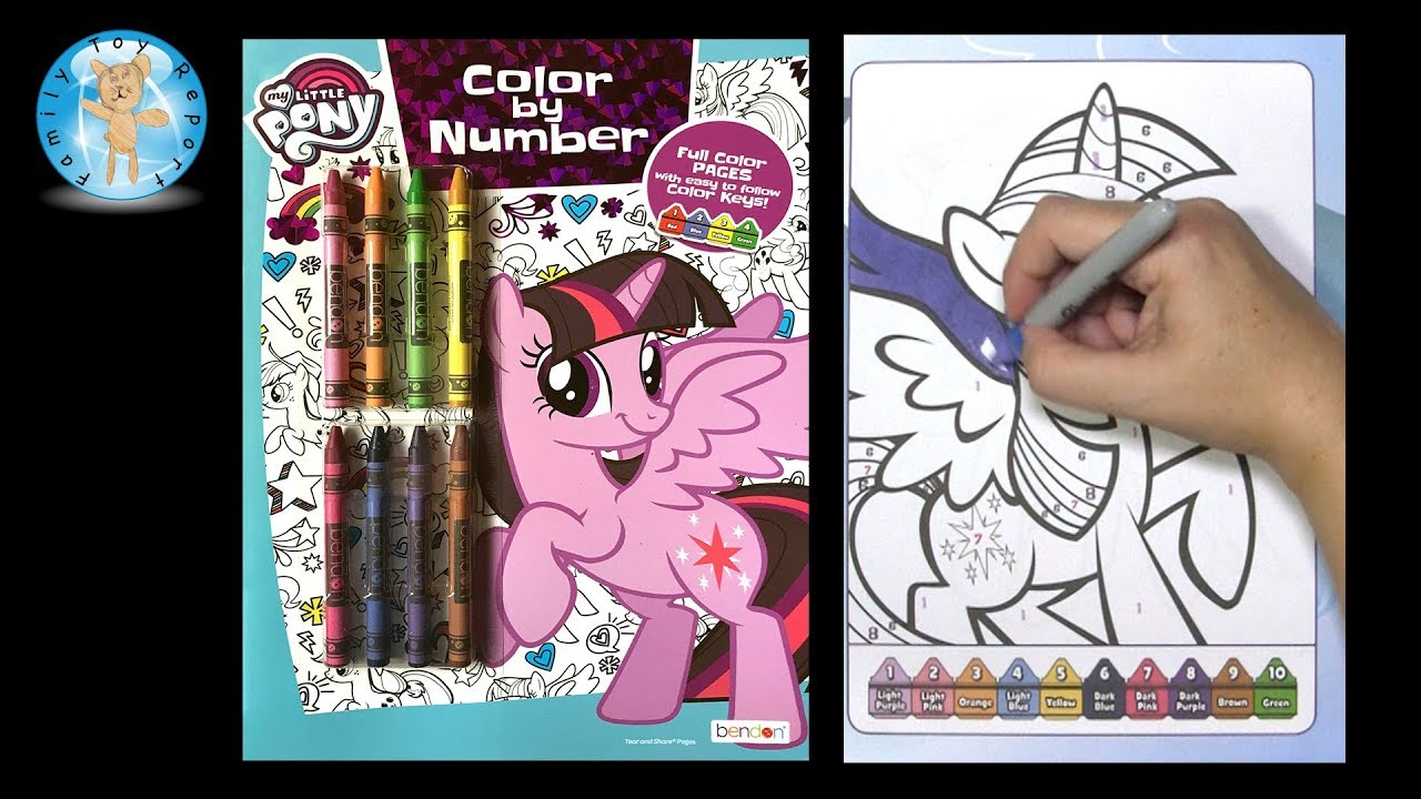 Twilight Sparkle My Little Pony Color By Number Coloring Book