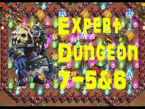 Castle Clash (expert) Dungeon 7 5 & 6
