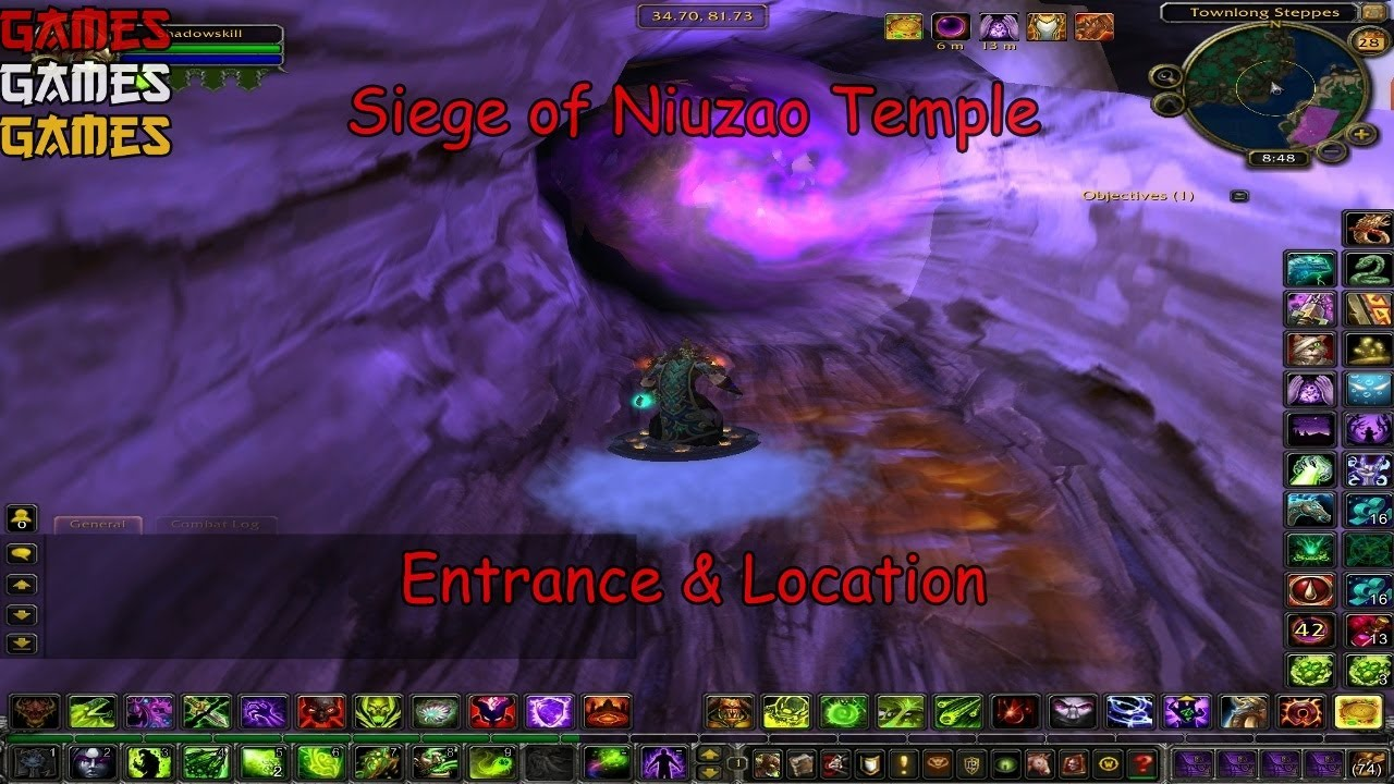 siege of niuzao temple entrance location world of warcraft mists of pandaria youtube. Black Bedroom Furniture Sets. Home Design Ideas