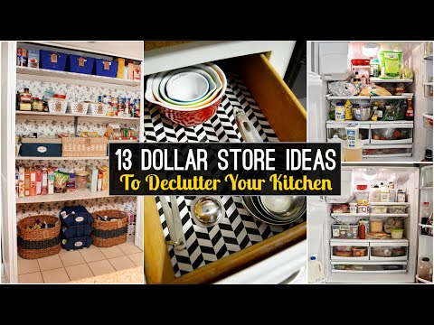 13 Declutter Kitchen Ideas From Dollar Store