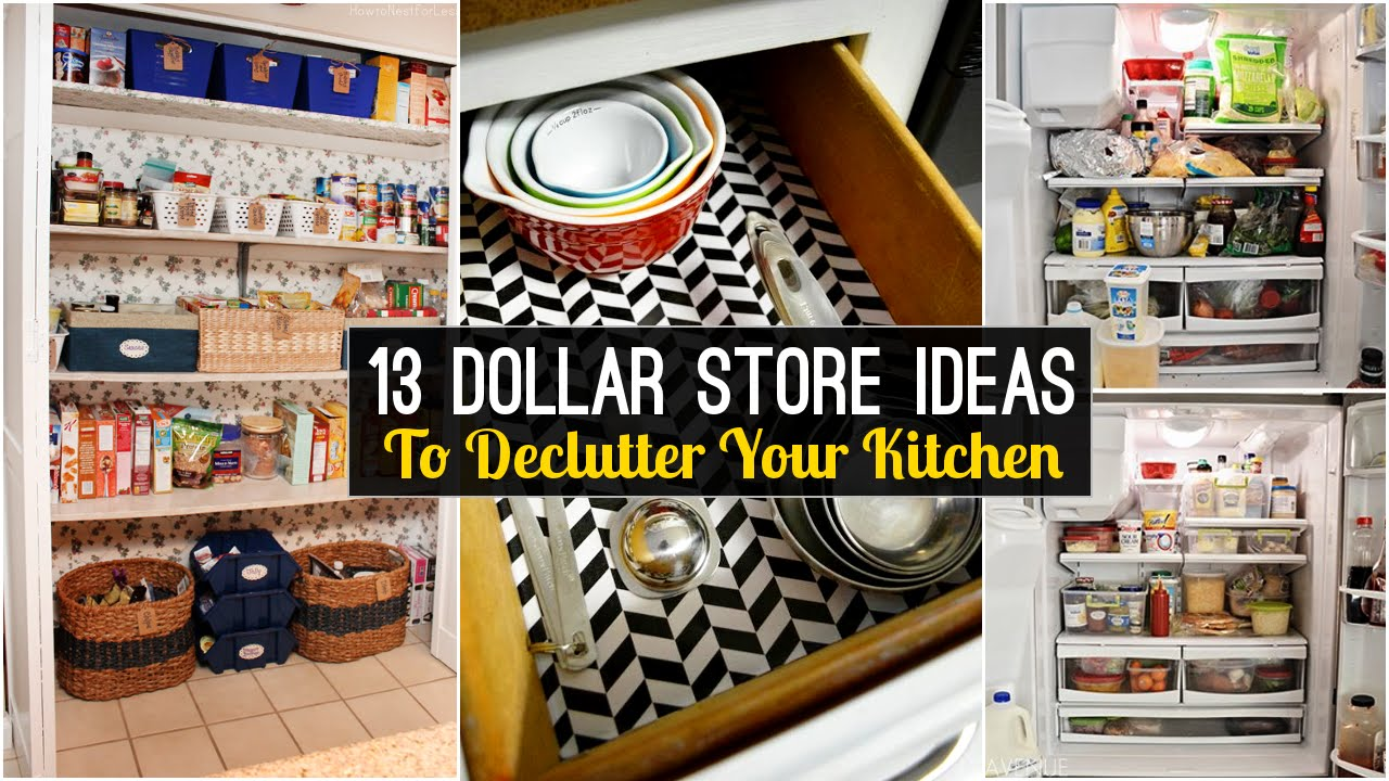 13 declutter kitchen ideas from dollar store youtube - Dollar store home decor ideas pict ...