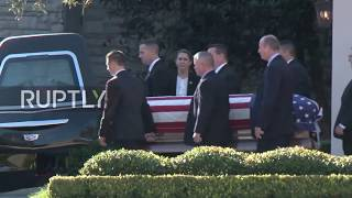 USA: George HW Bush casket transported to Washington ahead of state funeral