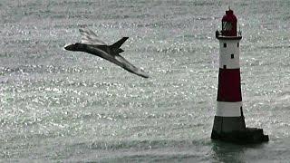 Vulcan XH558 Beachy Head Flypasts ~ Eastbourne Airshow 2015.