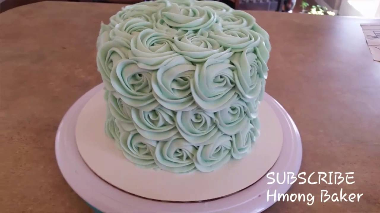 Rosette Cake Baby Shower Cake Youtube