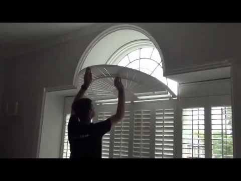 Operating Shaped Window Shutters With A Curved Fan Top See How The Louvre Blades Move Youtube