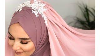 Princess Hijab Style I Occasional I Nisan Kina Dügün Mezuniyet Türban Tasarimi Modeli
