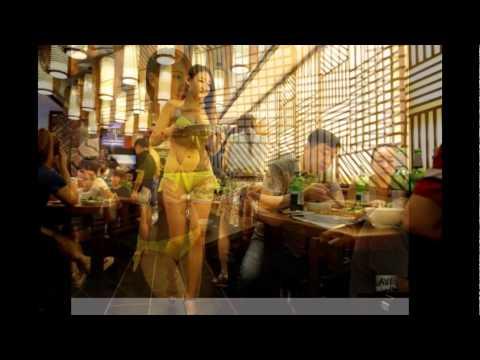 Девушки.официантки голые обслуживают клиентов фото