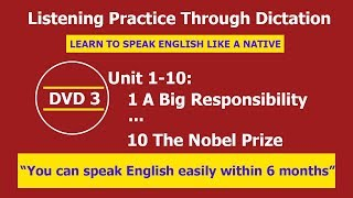 Listening practice through dictation 3 Unit 1-10 - listening English - LPTD - hoc tieng anh