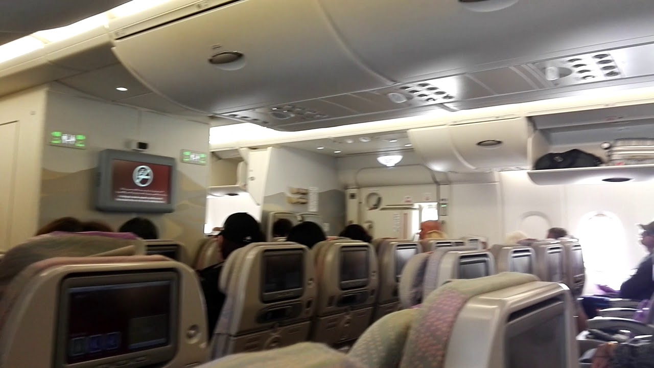 Emirates Airbus A380 800 Economy Class Inside View Youtube