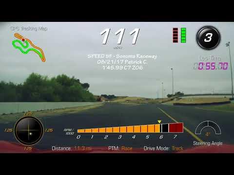 Sonoma Raceway Corvette c7 z06 1'45.99