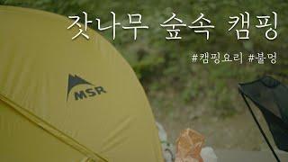 잣나무 숲속 캠핑장에서 첫 캠핑ㅣ캠핑요리ㅣ백패킹