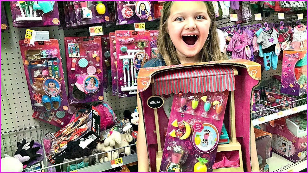 Toy Shopping At Walmart For My Life Doll Furniture