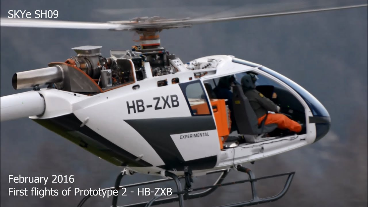 Marenco Swiss Elicopter SKYe SH09 Prototype 2 P2 First