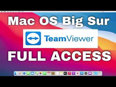 MacOS Big Sur: How do I give TeamViewer full access to my Mac?