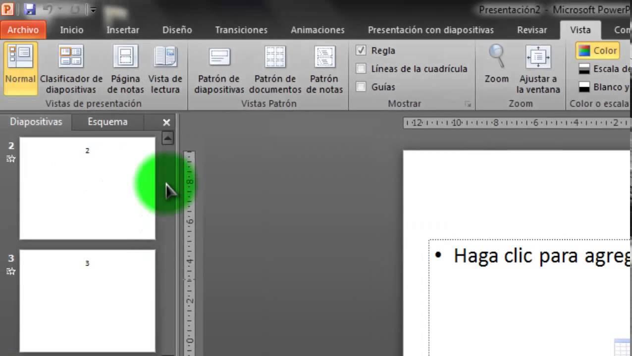 cambiar el orden de las diapositivas powerpoint